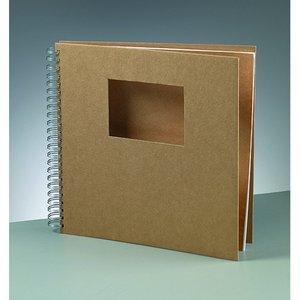 Billigtpyssel.se | Album för scrapbooking 30 x 30 cm / 9 x - brun 25 sidor cutout rektangel