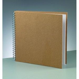Billigtpyssel.se | Album för scrapbooking 30 x 30 cm - brun 25 sidor m. spiral tråd