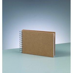 Billigtpyssel.se | Album för scrapbooking A 5 / 21 x 15 cm - brun 25 sidor m. spiral tråd