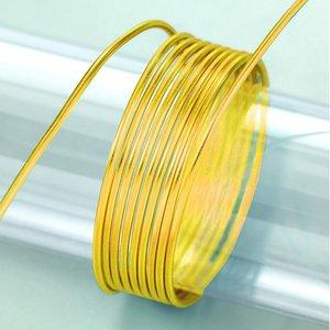 Billigtpyssel.se | Aluminiumtråd ø 2 mm - guld 5 m / ~ 42 g
