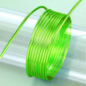 Billigtpyssel.se | Aluminiumtråd ø 2 mm - ljusgrön 5 m / ~ 42 g