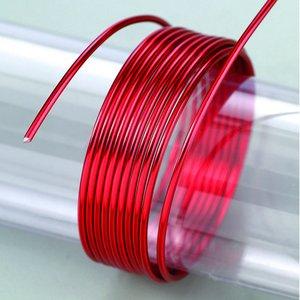 Billigtpyssel.se | Aluminiumtråd ø 2 mm - röd 5 m / ~ 42 g