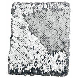 Billigtpyssel.se | Anteckningsbok Paljetter Vit/Silver