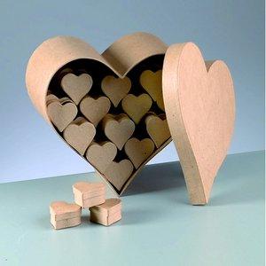 Billigtpyssel.se | Ask butiksdisplay 25 x 25 x 12 cm - 51 delar hjärta