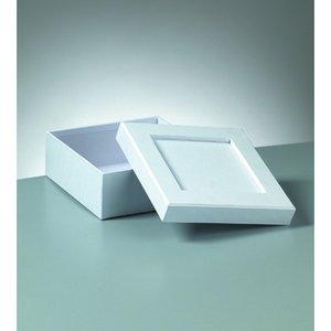 Billigtpyssel.se | Ask mosaik 15 x 15 x 6 cm - vit kvadrat
