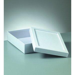 Billigtpyssel.se | Ask mosaik 20 x 15 x 6 cm - vit rektangulär
