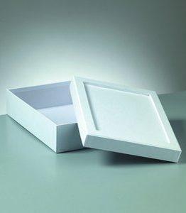 Billigtpyssel.se | Ask mosaik 23 x 17 x 6 cm - vit rektangulär