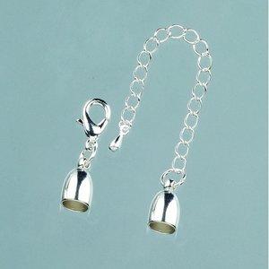 Billigtpyssel.se | Avslutningsdel ø 6 mm - 15 st - silverfärgad med kedja