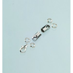 Billigtpyssel.se   Avslutningsdelar 4 mm - silverfärgade 1 par