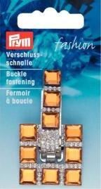 Billigtpyssel.se | Bältspänne strass guld/bärnsten 1 st