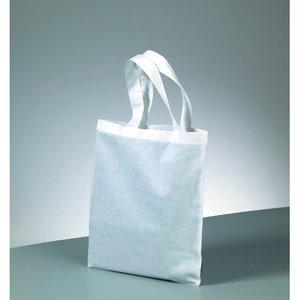 Billigtpyssel.se | Bärkasse bomull 28 x 24 cm - vit kort handtag