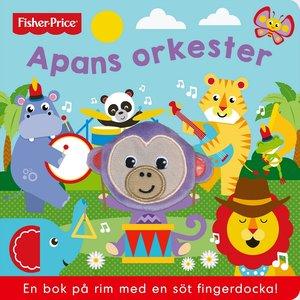 Billigtpyssel.se | Barnbok Apans orkester - Fisher-Price (med fingerdocka)