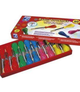 Billigtpyssel.se | Barnpenslar L&B Skolförpackning - 20 Penslar