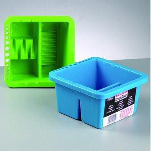 Billigtpyssel.se | Behållare för penselrengöring 16 x 16 x H - blandade färger plast