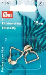 Billigtpyssel.se | Bikinispänne metal 15mm guldfärg 1 st