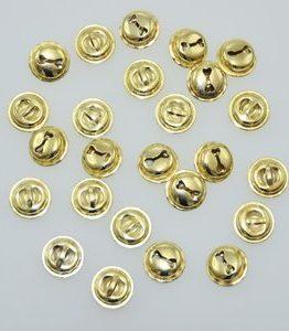 Billigtpyssel.se | Bjällror guldfärgade 25 st 15 mm