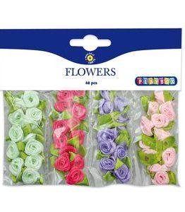 Billigtpyssel.se | Blommor 48 st 4 färger