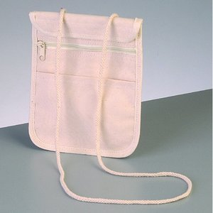 Billigtpyssel.se | Bomullsartiklar 17 x 14 cm - naturlig bomull 280g / m² väska med hängare