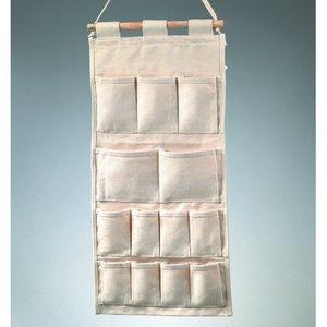 Billigtpyssel.se | Bomullsartiklar 60 x 29 cm - naturlig hänghållare med fickor