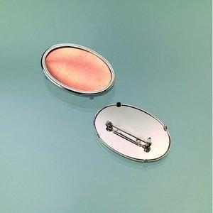 Billigtpyssel.se | Brosch för emaljering 45 x 30 mm - silverfärga oval