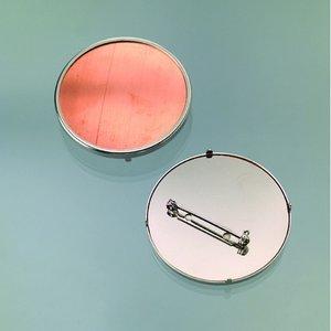 Billigtpyssel.se | Brosch för emaljering 49 mm - silverfärgad rund