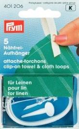 Billigtpyssel.se | Clip-On handduks- och textilhängare för linne vit 5 st