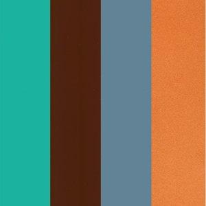 Billigtpyssel.se | Color-Dekor färgfolie 180 °C 100 x 200 mm - 4 blandade färger 4 st sortiment 5