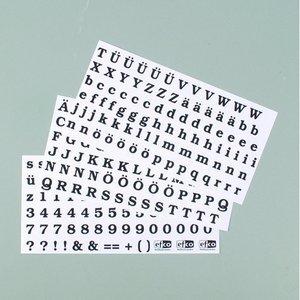 Billigtpyssel.se | Color-Dekor färgfolie 180 °C 100 x 200 mm - svarta 3 st bokstäver + siffror