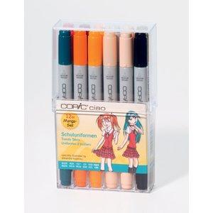 Billigtpyssel.se   Copic Ciao set - 12 pennor - Skoluniform (mix av Alexandra Kopetzky)