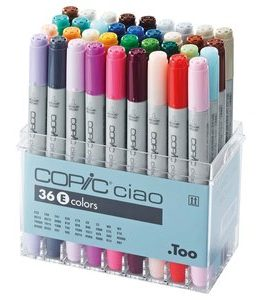 Billigtpyssel.se | Copic Ciao set - 36 pennor - Set E