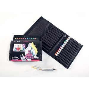 Billigtpyssel.se | Copic Marker Wallet - 12 pennor - Ljusa färger
