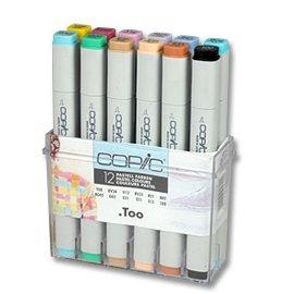 Billigtpyssel.se | Copic Marker set - 12 pennor - Pastellfärger