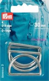 Billigtpyssel.se | D-ringar silverfärg