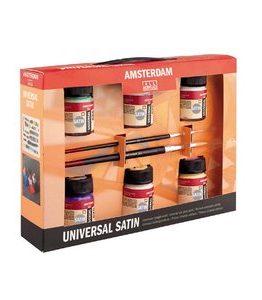 Billigtpyssel.se | Deco Universalfärg Satin Amsterdam - Målarset