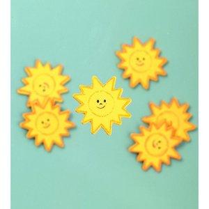 Billigtpyssel.se | Dekor trä 35 mm - gul 24 st. solar