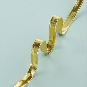 Billigtpyssel.se   Dekorband ståltrådskant guld 15 mm - 25 meter - guld