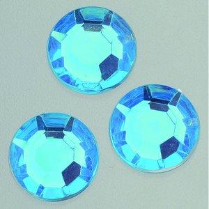 Billigtpyssel.se | Dekorsten akryl facetterad - azurblå