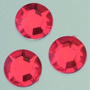 Billigtpyssel.se   Dekorsten akryl facetterad - röda