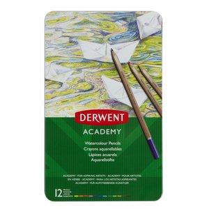 Billigtpyssel.se   Derwent Academy Akvarell - 12 Delar