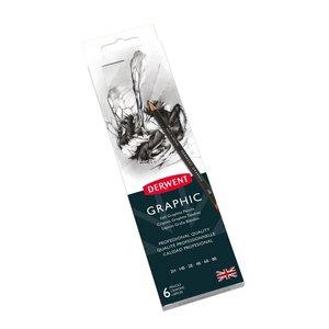 Billigtpyssel.se | Derwent Graphic Metallask - 6 pennor