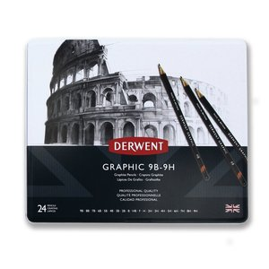 Billigtpyssel.se   Derwent Graphic Set - 24 Pennor