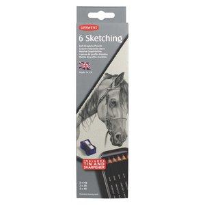 Billigtpyssel.se   Derwent Sketching Metallask - 6 pennor