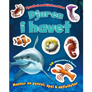 Billigtpyssel.se | Djuren i havet- pysselbok med klistermärken