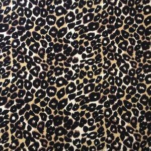 Billigtpyssel.se | Djurmönstrad trikå - Leopard svart/vit/gul - 160 cm