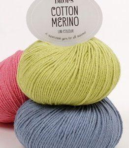 Billigtpyssel.se | Drops Cotton Merino garn - 50g (ca 30 olika färgval)