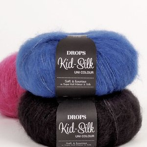 Billigtpyssel.se | Drops Kid-Silk garn - 25g