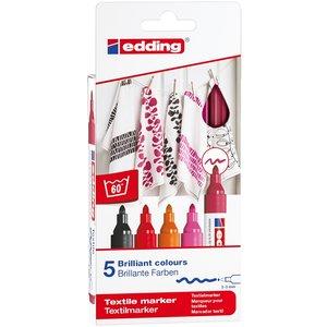 Billigtpyssel.se | Edding 4500 Textil - Varma Färger