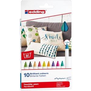 Billigtpyssel.se | Edding 4600 Textil - Roliga Färger
