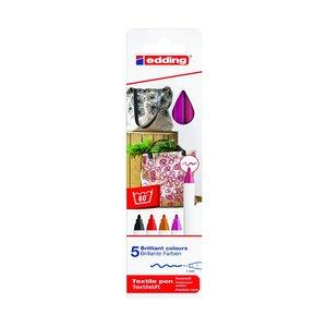 Billigtpyssel.se | Edding 4600 Textil - Varma Färger