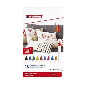 Billigtpyssel.se | Edding 4600 Textilset Basic - 10 Delar